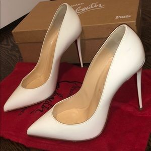 White patent leather pigalle follies